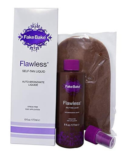 Flawless Self-Tanning with glove