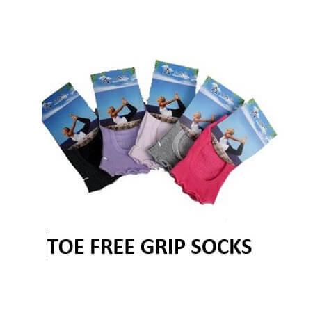Toe Free Grip Socks