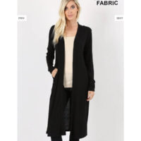 Duster Cardigan Black